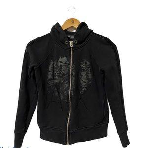 Armani Exchange Fullzip Bead Design Hoodie size S